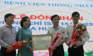 Khoa Huyết học – Bệnh viện Thống Nhất đạt công nhận ISO 15189:2012