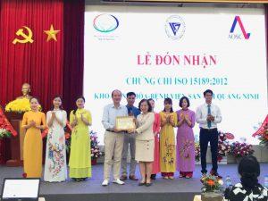 Khoa Sinh Hóa – Bệnh viện Sản Nhi tỉnh Quảng Ninh nhận Quyết định công nhận Phòng xét nghiệm đạt tiêu chuẩn ISO 15189:2012